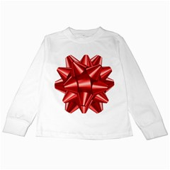Red Bow Kids Long Sleeve T Shirts