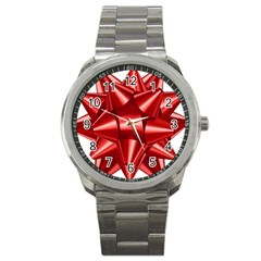 Red Bow Sport Metal Watch