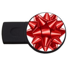 Red Bow Usb Flash Drive Round (4 Gb)