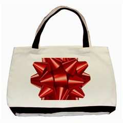 Red Bow Basic Tote Bag by BangZart