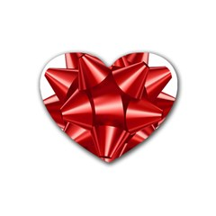Red Bow Rubber Coaster (heart)  by BangZart