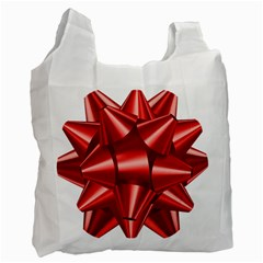 Red Bow Recycle Bag (one Side)