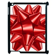 Red Bow Apple Ipad 2 Case (black) by BangZart