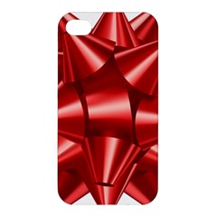 Red Bow Apple Iphone 4/4s Premium Hardshell Case