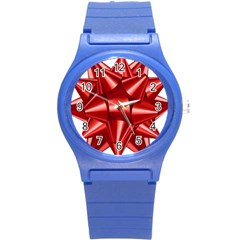 Red Bow Round Plastic Sport Watch (s) by BangZart