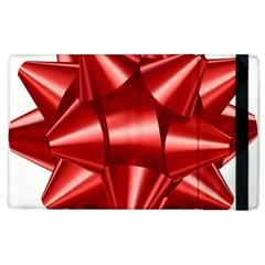Red Bow Apple Ipad 3/4 Flip Case