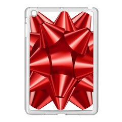 Red Bow Apple Ipad Mini Case (white) by BangZart