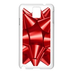 Red Bow Samsung Galaxy Note 3 N9005 Case (white) by BangZart