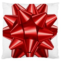 Red Bow Large Flano Cushion Case (two Sides) by BangZart
