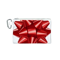 Red Bow Canvas Cosmetic Bag (s) by BangZart