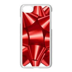 Red Bow Apple Iphone 7 Seamless Case (white) by BangZart