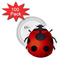 Ladybug Insects 1 75  Buttons (100 Pack)