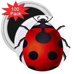 Ladybug Insects 3  Magnets (100 Pack)