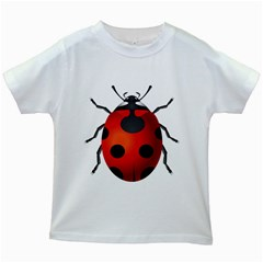 Ladybug Insects Kids White T Shirts