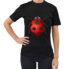 Ladybug Insects Women s T Shirt (black) (two Sided) by BangZart