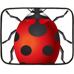 Ladybug Insects Fleece Blanket (mini)