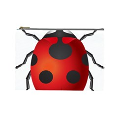 Ladybug Insects Cosmetic Bag (large)  by BangZart