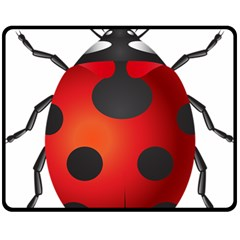 Ladybug Insects Fleece Blanket (medium)  by BangZart