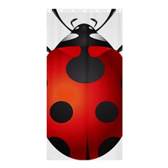 Ladybug Insects Shower Curtain 36  X 72  (stall)  by BangZart