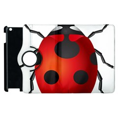 Ladybug Insects Apple Ipad 3/4 Flip 360 Case by BangZart
