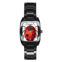 Ladybug Insects Stainless Steel Barrel Watch