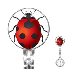 Ladybug Insects Stainless Steel Nurses Watch