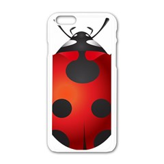 Ladybug Insects Apple Iphone 6/6s White Enamel Case by BangZart