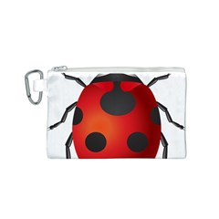 Ladybug Insects Canvas Cosmetic Bag (s) by BangZart