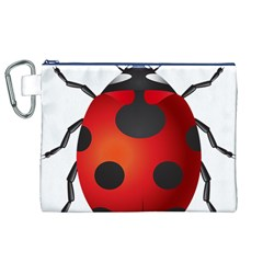 Ladybug Insects Canvas Cosmetic Bag (xl) by BangZart