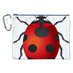 Ladybug Insects Canvas Cosmetic Bag (xxl) by BangZart