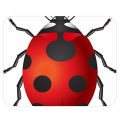 Ladybug Insects Double Sided Flano Blanket (medium)  by BangZart