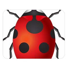 Ladybug Insects Double Sided Flano Blanket (large)  by BangZart