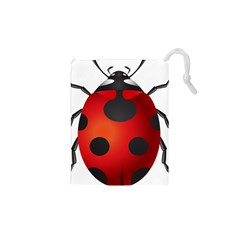 Ladybug Insects Drawstring Pouches (xs)