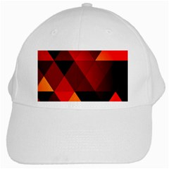 Abstract Triangle Wallpaper White Cap