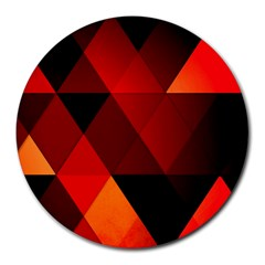 Abstract Triangle Wallpaper Round Mousepads by BangZart