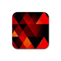 Abstract Triangle Wallpaper Rubber Square Coaster (4 Pack)  by BangZart