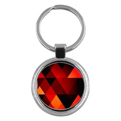 Abstract Triangle Wallpaper Key Chains (round)