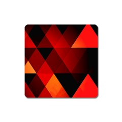 Abstract Triangle Wallpaper Square Magnet
