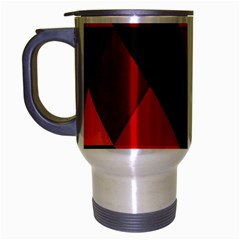 Abstract Triangle Wallpaper Travel Mug (silver Gray) by BangZart