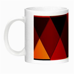 Abstract Triangle Wallpaper Night Luminous Mugs by BangZart