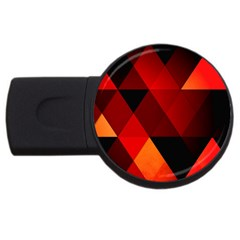 Abstract Triangle Wallpaper Usb Flash Drive Round (4 Gb)