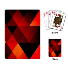 Abstract Triangle Wallpaper Playing Card