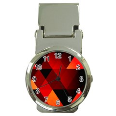 Abstract Triangle Wallpaper Money Clip Watches