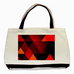 Abstract Triangle Wallpaper Basic Tote Bag by BangZart