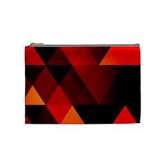 Abstract Triangle Wallpaper Cosmetic Bag (medium)  by BangZart