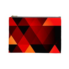 Abstract Triangle Wallpaper Cosmetic Bag (large)