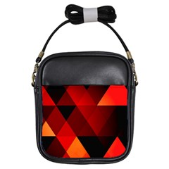 Abstract Triangle Wallpaper Girls Sling Bags by BangZart