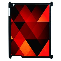 Abstract Triangle Wallpaper Apple Ipad 2 Case (black) by BangZart