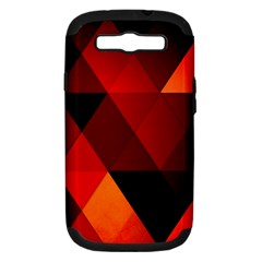 Abstract Triangle Wallpaper Samsung Galaxy S Iii Hardshell Case (pc+silicone) by BangZart