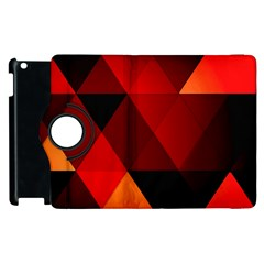 Abstract Triangle Wallpaper Apple Ipad 3/4 Flip 360 Case by BangZart
